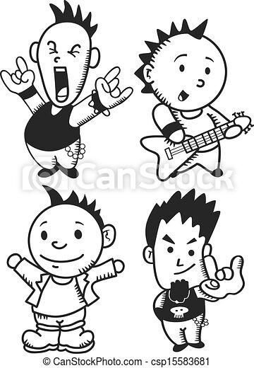 punk rocker - csp15583681