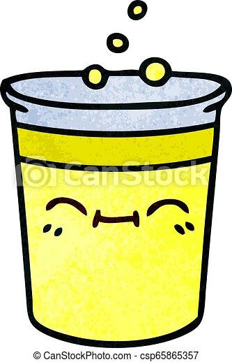 quirky hand drawn cartoon cup of lemonade - csp65865357