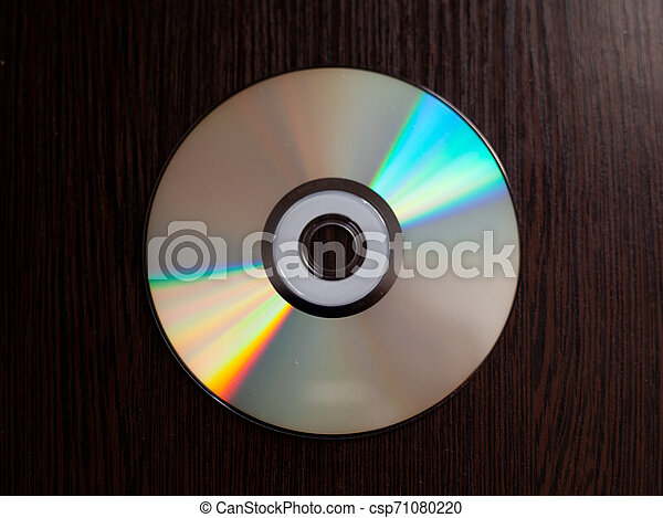 rare CD with music on a dark background - csp71080220