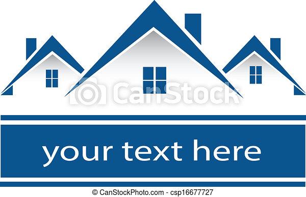 Real estate houses logo - csp16677727