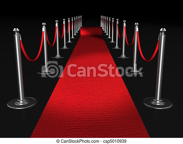 Red carpet night conept - csp5010939