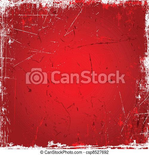 Red grunge background - csp8527692
