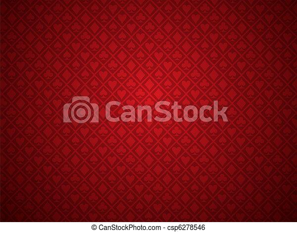 Red Poker Background - csp6278546