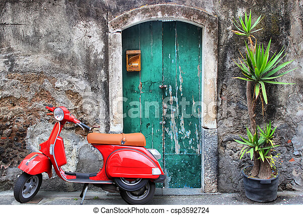 Red scooter - csp3592724