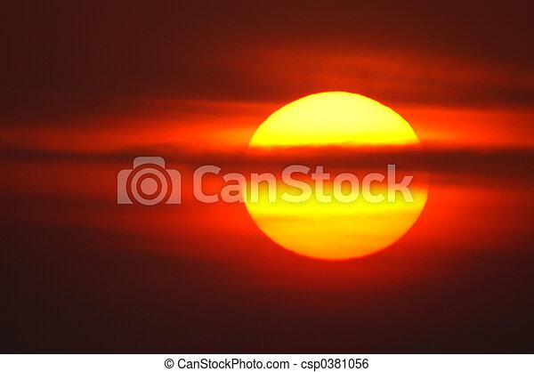 red sunrise - csp0381056