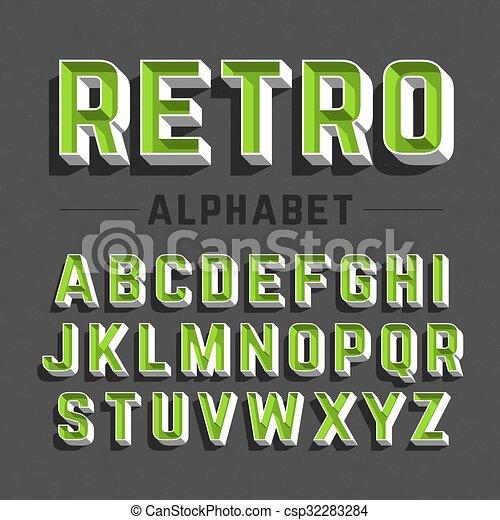 Retro style alphabet - csp32283284