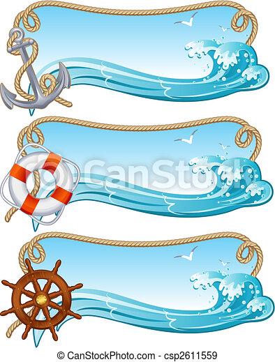 sailing banner - csp2611559