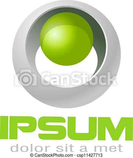 Sci-fi logo style. - csp11427713