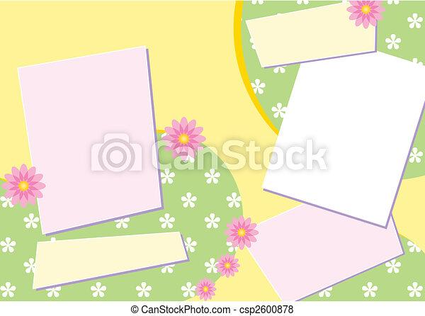 Scrapbook Page Layout - csp2600878