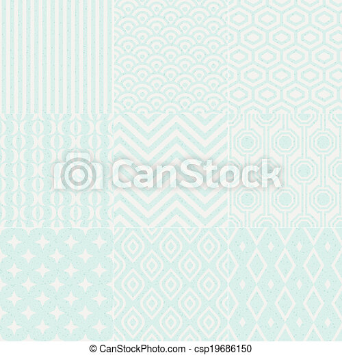 seamless textured geometric pattern - csp19686150