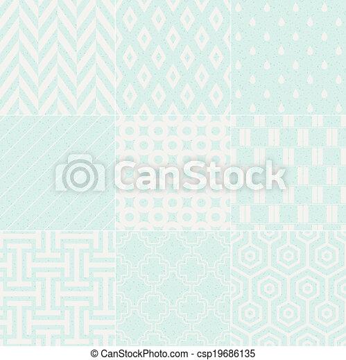 seamless textured geometric pattern - csp19686135