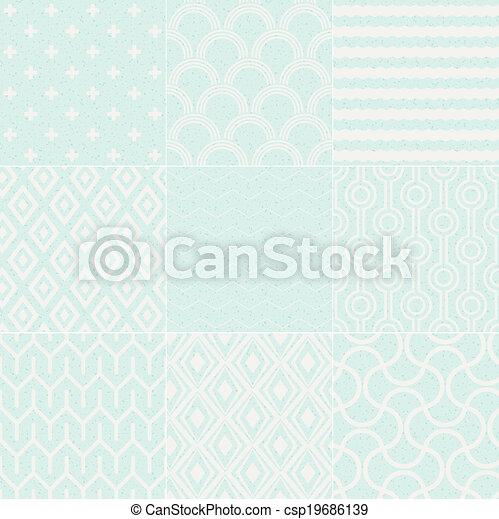 seamless textured geometric pattern - csp19686139
