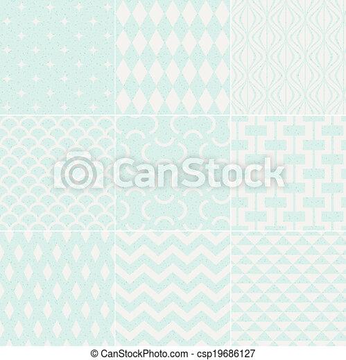 seamless textured geometric pattern - csp19686127