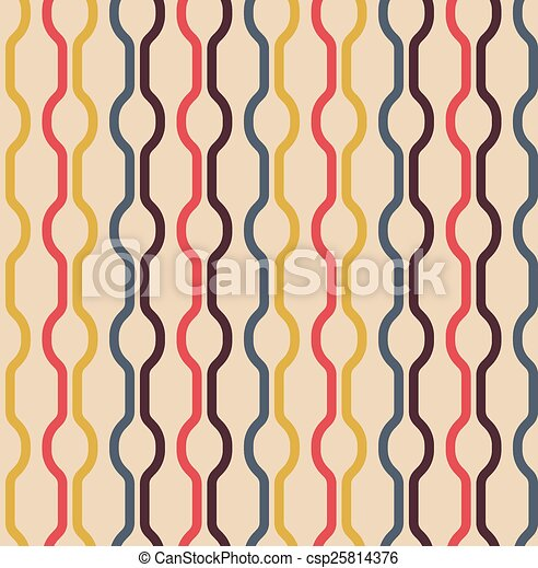 Seamless Vintage Colors Pattern - csp25814376