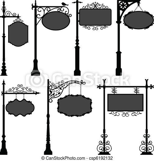 Signage Sign Pole Frame Street - csp6192132