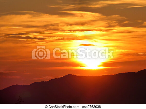 Sunrise Over The Mountains - csp0763038