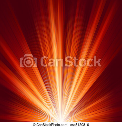 Template with burst warm color light. EPS 8 - csp5130816