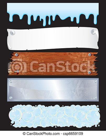 Textured Banners - csp6659109