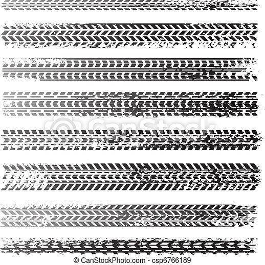 tire track texture - csp6766189