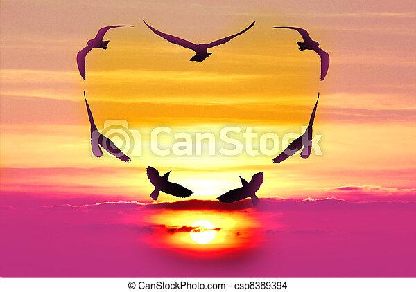 Valentine bird - csp8389394