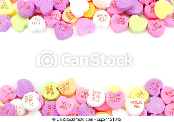 Valentines Day candy frame - csp24121842