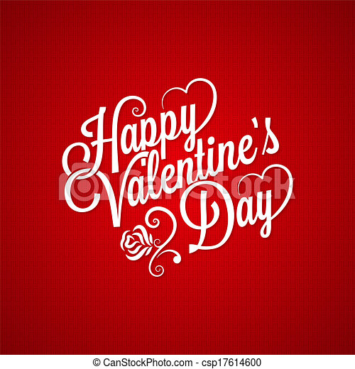 valentines day vintage lettering background - csp17614600