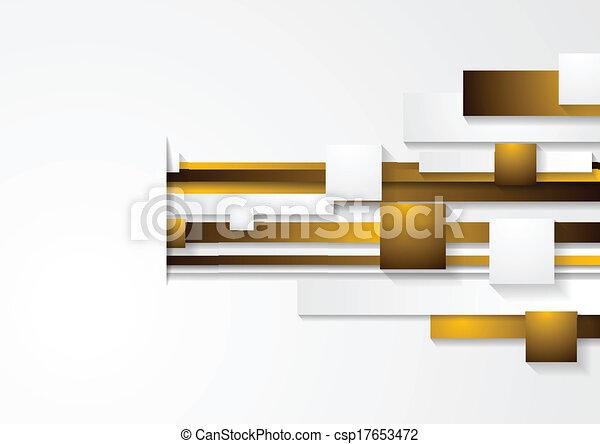 Vector abstract tech background - csp17653472