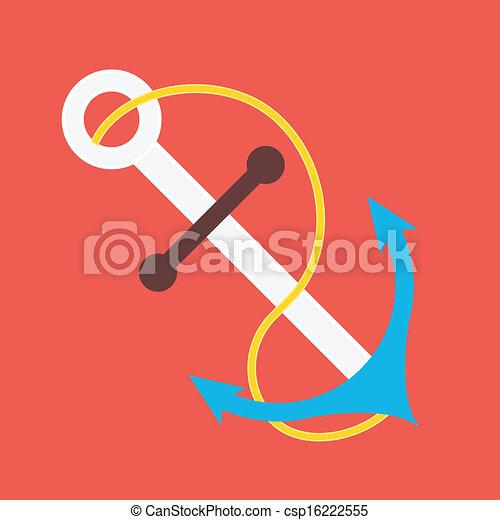 Vector Anchor Icon - csp16222555