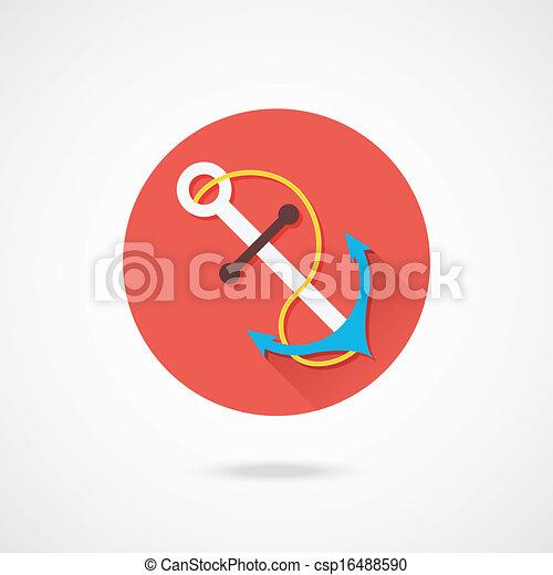 Vector Anchor Icon - csp16488590