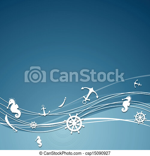 Vector Background with Nautical Elements - csp15090927