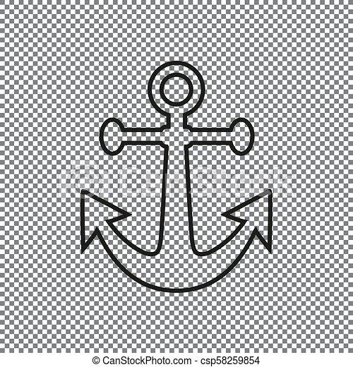 Vector icon anchor - csp58259854