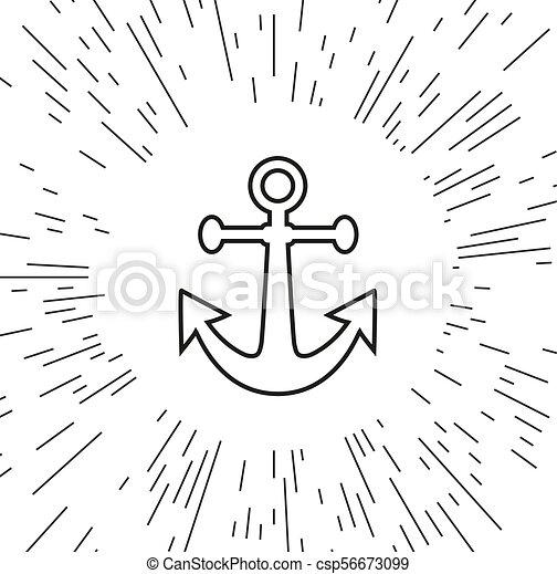 Vector icon anchor - csp56673099