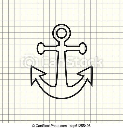 Vector icon anchor - csp61255498
