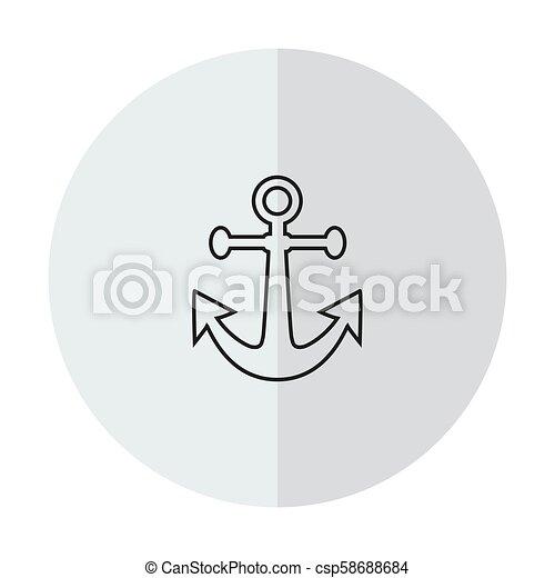 Vector icon anchor - csp58688684