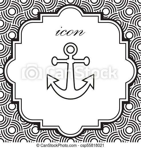 Vector icon anchor - csp55818021