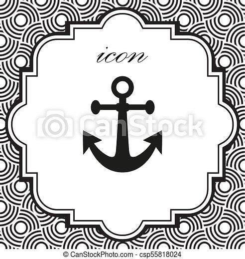 Vector icon anchor - csp55818024