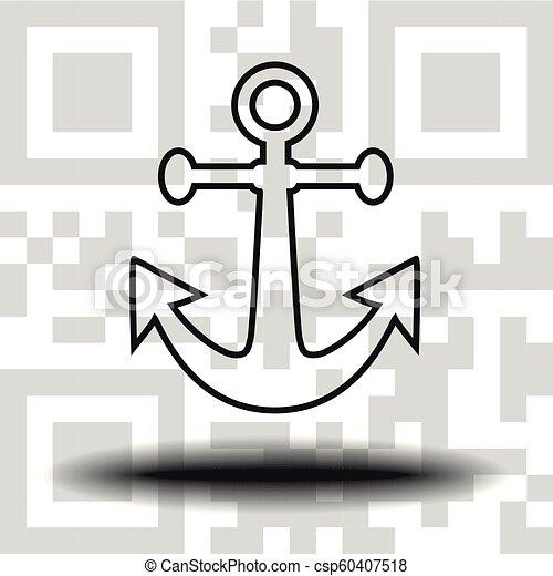 Vector icon anchor - csp60407518