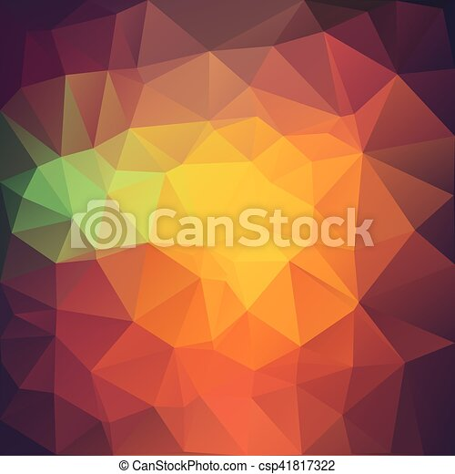 Vector illustration of colored triangle background. - csp41817322
