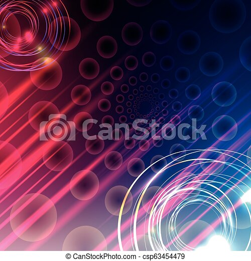 Vector illustration of soft colored abstract background - csp63454479