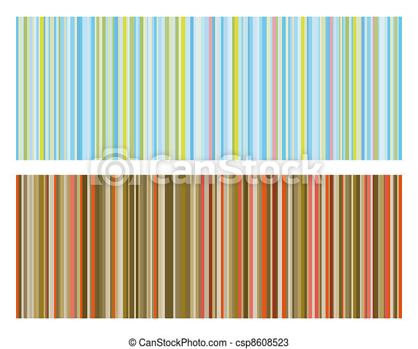 Vector illustration of vintage colored strips background - csp8608523
