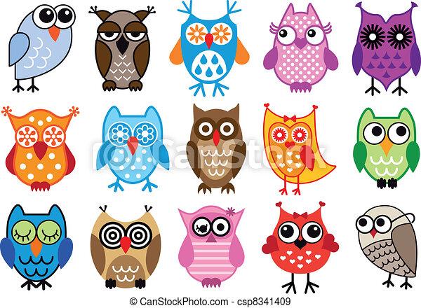 vector owls - csp8341409