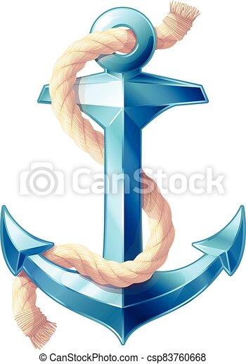 vector sea maritime icon Anchor - csp83760668