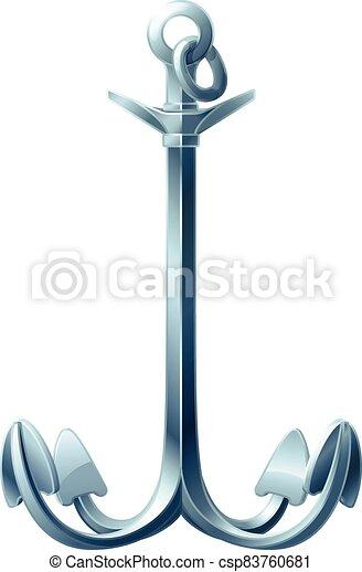 vector sea maritime icon Anchor - csp83760681