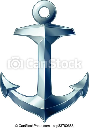 vector sea maritime icon Anchor - csp83760686