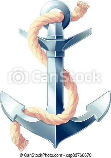 vector sea maritime icon Anchor - csp83760670