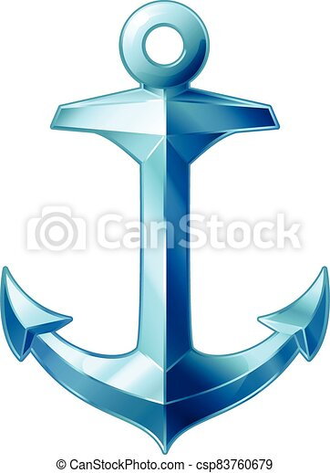 vector sea maritime icon Anchor - csp83760679