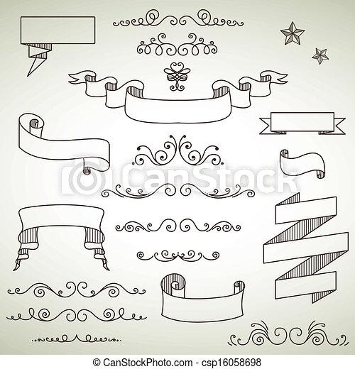 Vector Vintage Elements - csp16058698