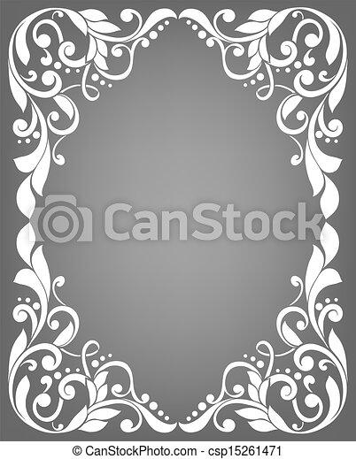 Vintage filigree frame - csp15261471