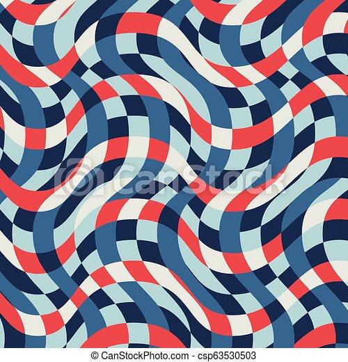 Vintage Nautical Striped Pattern - csp63530503