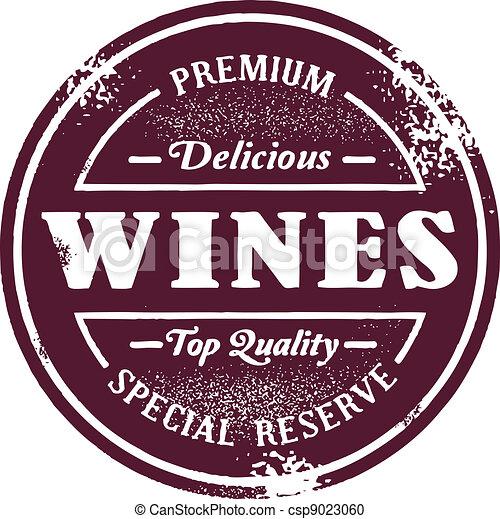 Vintage Style Wine Stamp - csp9023060